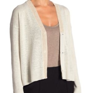 New Eileen Fisher v-neck snap closure cardigan